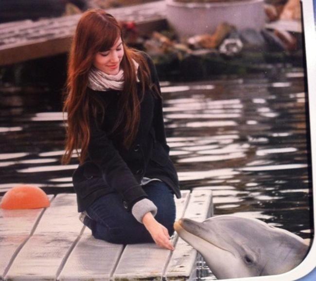 Teske en dolfijn