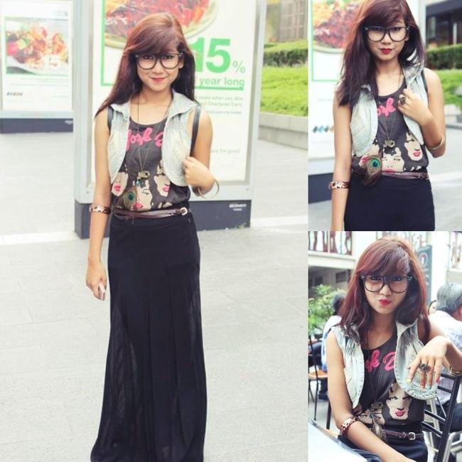 Maxi dress zwart combineren